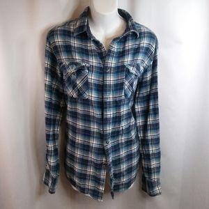 COPY - Flannel Shirt With Retro Windowpane Design…